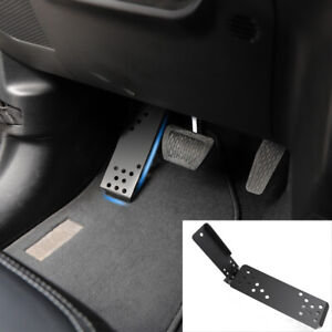 Left Foot Rest Dead Pedal Pegs Panel Cover For Jeep Wrangler Jl Jlu 2018 Black