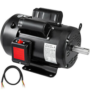 5hp Air Compressor Duty Electric Motor 184t Frame 1725 Rpm 208 230v Single Phase