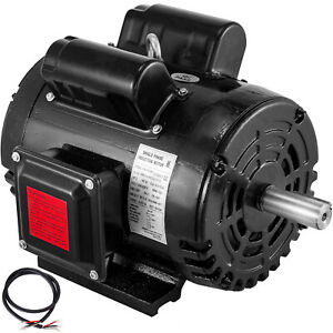 3hp Air Compressor Duty Electric Motor 184t Frame 1725 Rpm 208 230v Single Phase