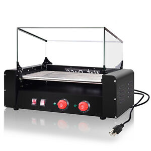 Electric 1350w 18 Hot Dog 7 Roller Cooker Grill Durable Commercial Machine Usa