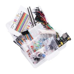 Electronic Component Kit With Power Supply Module Breadboard Resistor Capacit