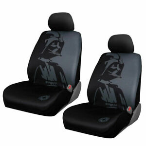 Disney Star Wars Darth Vader Front Low Back Car Seat Covers Universal Fit 4 Pc