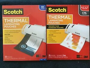 Scotch Thermal Laminating Pouches letter Size 8 9in 11 4in 3mil 50 5mil 22
