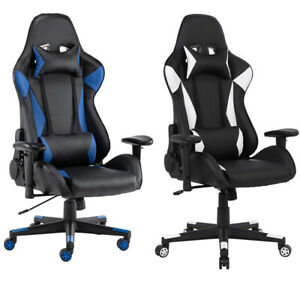 Ergonomic Game Chair Racing Office Pu Leather Chair Massage Chair Recliner Seat