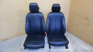 2012 2018 Bmw 328i Front Leather Bucket Seats W Airbag Rh Lh Black Oem