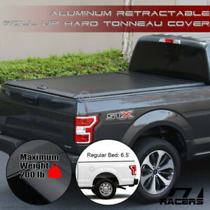 For 2015 2021 Ford F150 6 5 Bed Aluminum Retractable Roll up Hard Tonneau Cover