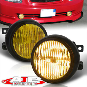 Yellow Round Bumper Fog Lights Lamps Wiring Switch For 1996 1998 Civic Ek Ej