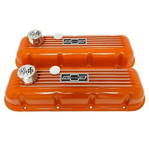 Big Block Chevy Bowtie Valve Covers W Flags Billet Breathers Set prototype