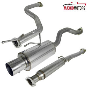 For 1992 2000 Honda Civic Ex 2 4dr N1 4 Tip Catback Exhaust Muffler System