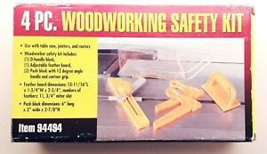 Wood Working Safety Kit 4 Pieces Orange Use With Table Saws Jointers Routers