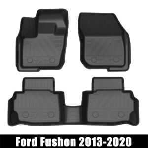 For Ford Fusion 2013 2020 3d Molded Black Rubber All Weather Floor Mat