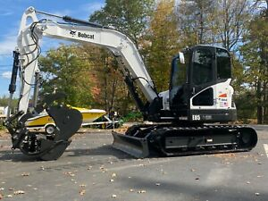 Bobcat E85 Excavator With Cab Hydraulic Steel Wrist Quick Coupler Hydraulic Thum