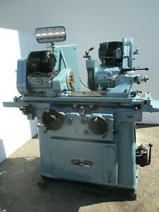 Xlnt 8 X 18 Jones And Shipman Model 1310 Od Grinder With Swing Around I d