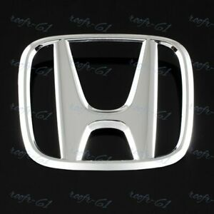 Front Grille Mounted H Emblem Chrome For 2006 2007 2008 Honda Civic Coupe 2dr