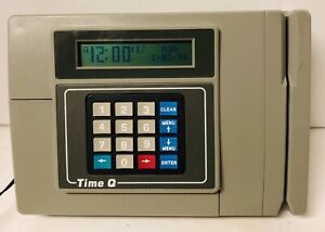 Vintage Time Q Time Clock Employee Badge Card Punch Clock Powers On Untested