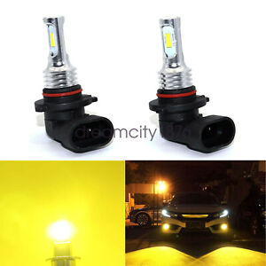 2x 9005 Hb3 Led Headlight Fog Lights Kit Hi Low Bulbs 35w 4000lm 3000k Yellow