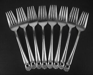 Set 8 Salad Forks 1847 Rogers Eternally Yours 1941 Vintage Lots Available