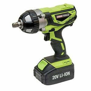 20v Impact Wrench Battery 1 2 Inch Operated Powered Cordless Kit Gun Electric A