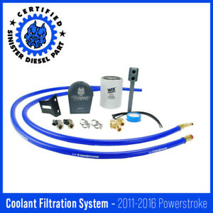 Sinister Diesel Coolant Filtration System w Wix For 2011 2016 Ford Powerstrok