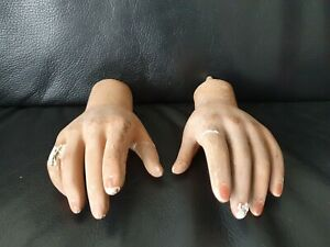 Old 1940 s Right Left Child Mannequin Hand Early Ex