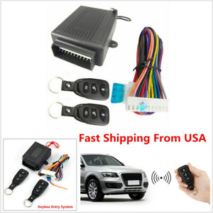 Car Remote Control Central Kit Door Lock Vehicle Keyless Entry Anti theft Alarm