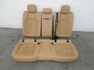 2015 15 16 Porsche Macan S Rear Tan Heated Leather Suede Seat Set 2257