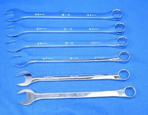Sk 6 piece Superkrome Metric Combination Wrench Set