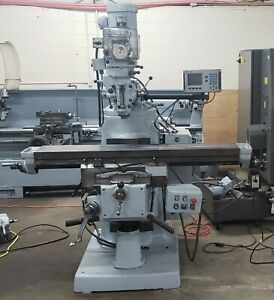 Bridgeport Series Ii Special With 2 axis Dro And X axis Power Feed