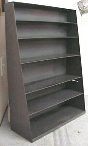 Vintage Industrial 25 5 X 18 X 7 Tapered To 3 Deep Grey 6 Shelf Wall Unit