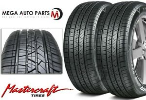 2 Mastercraft Lsr Grand Touring 205 55r16 All Weather High Performance Tires