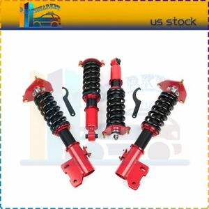 For Mitsubishi 3000gt Fwd 3 0l 91 99 Coilover Shock Suspension Spring Adj Height