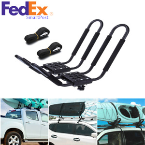 2 Pcs Canoe Boat Kayak Roof Rack Car Suv Top Mount Carrier J Cross Bar Us Stock