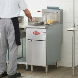 Floor Deep Fryer Liquid Propane Commercial Restaurant Stainless Steel 40 Lb New