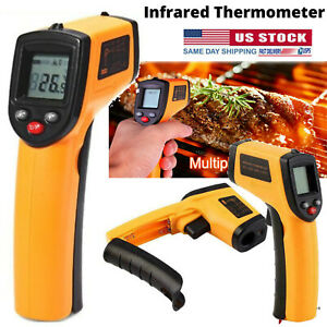 Digital Thermometer Infrared Handheld Temperature Gun Non contact Ir Laser Usa