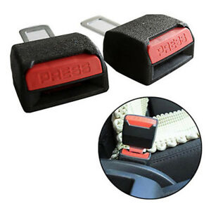 2pcs Universal Car Safety Seat Belt Buckle Clip Extender Safety Alarm Stopper Us
