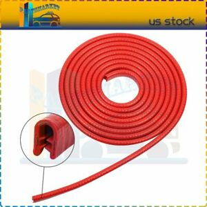 Rubber Seal Strip U Shape Moluding Trim Car Door Edge Guard Protector Red 3m