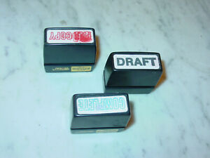 Lot Of 3 Perma Stamps Business Self Inking Used