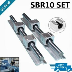 2xsbr10 300mm 500mm 600mm 1000mm Linear Rail Slide Guide 4x Sbr10uu Blocks New