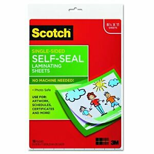 Scotch Ls854ss10 Self sealing Laminating Sheets 6 0 Mil 8 1 2 X 11 Pack Of 10