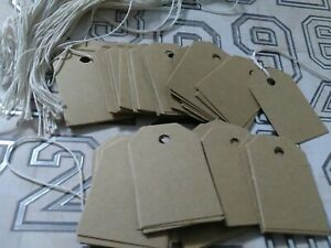 500 Unstrung Rustic Brown 85lb Card Stock Retail Price Tags Gift Tags String