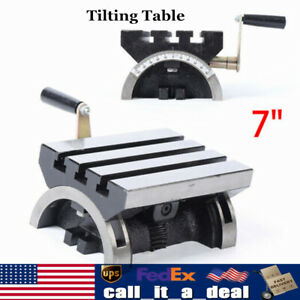 5 X 7 Tilting Table For Milling Machines Adjustable Angle Plate 45 Each Way Us