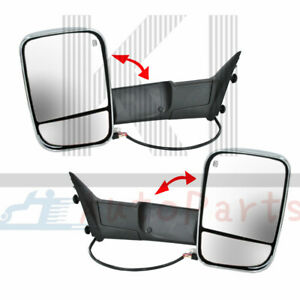Pair Heated Towing Mirrors Set Lh Rh For 2009 2015 Dodge Ram 1500 2500 3500
