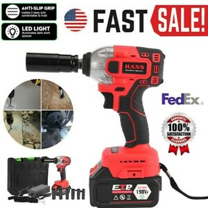 1 2 Dr Cordless Electric Impact Wrench Gun 330nm Li Ion Battery High Power Ce