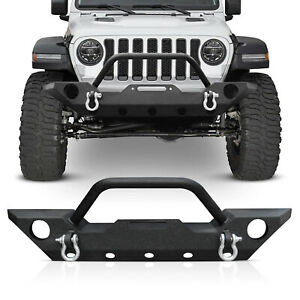 Front Bumper Guard For 07 18 Jeep Wrangler Jk Unlimited Rubicon 2 4 Door