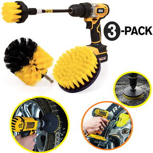 Wheel Brush Kit For Tire And Rim Cleaning Drill Brush Car Vehicles Detailing Set