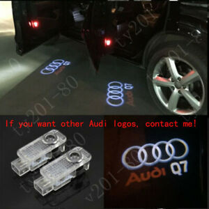 4pcs Laser Led Logo Door Lamp Puddle Courtesy Projector Shadow Light For Audi Q7