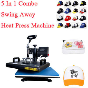 12x15 5 In1 Combo Heat Press Transfer Printing Machine Diy Mug T shirt Hat Plate