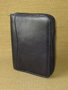 Classic Franklin Covey Black Leather 1 125 Rings Zip Planner binder