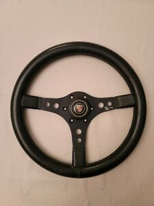 Vintage Raid Racemark Steering Wheel With Porsche Horn Button