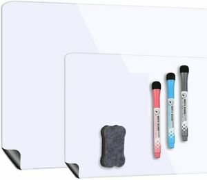 Magnetic Dry Erase Whiteboard Sheet For Fridge 3 Colors Nano Premium Eraser